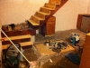 3 - Mess during construction with stair treads in place