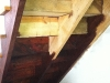 11 - Staining the underside of the steps - in the middle of the project (I think I got more on me than I managed to get on stairs!)