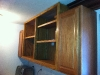 14 - Close up of the cabinets hanging before we added the custom trim