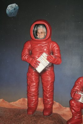 My grandmother, the astronaut!