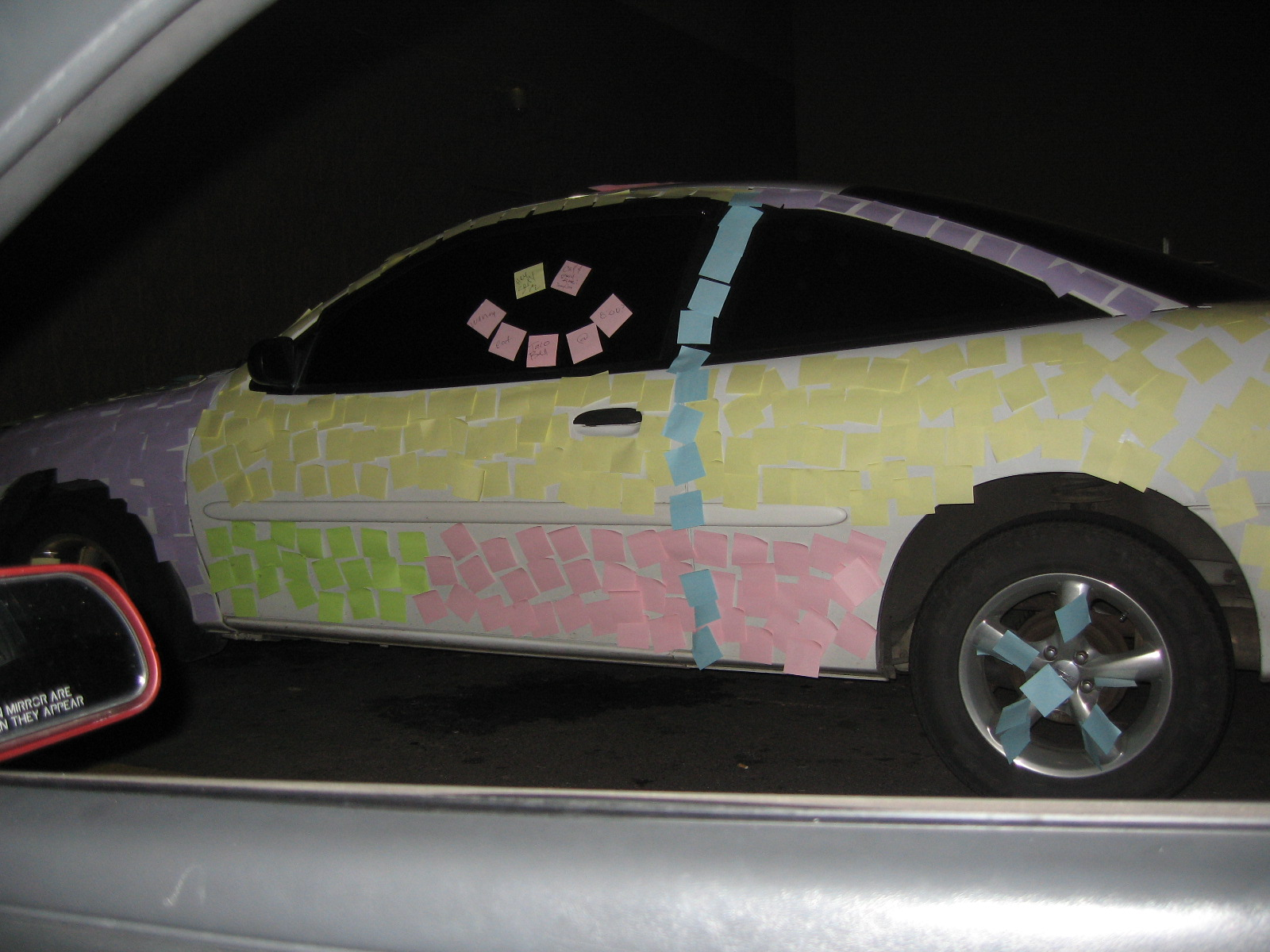 Post it Note Car