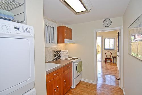 Kitchen - including washer and dryer units