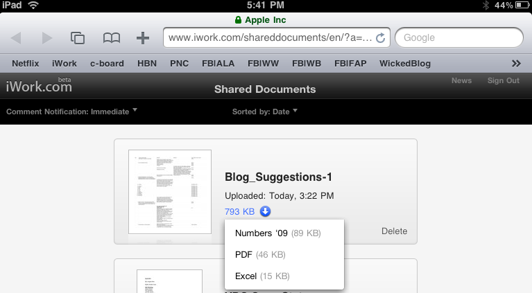 How to Download Docs From iWork to the iPad - Wicked Blog