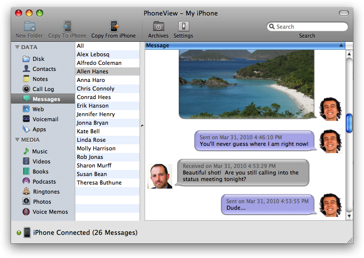 save texts from iphone save iphone sms and messages to your mac 16054