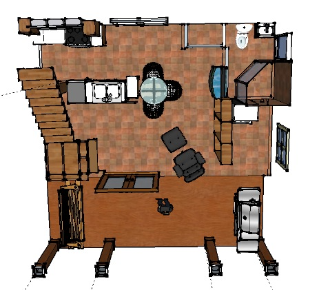 tiny house floorplan - first floor