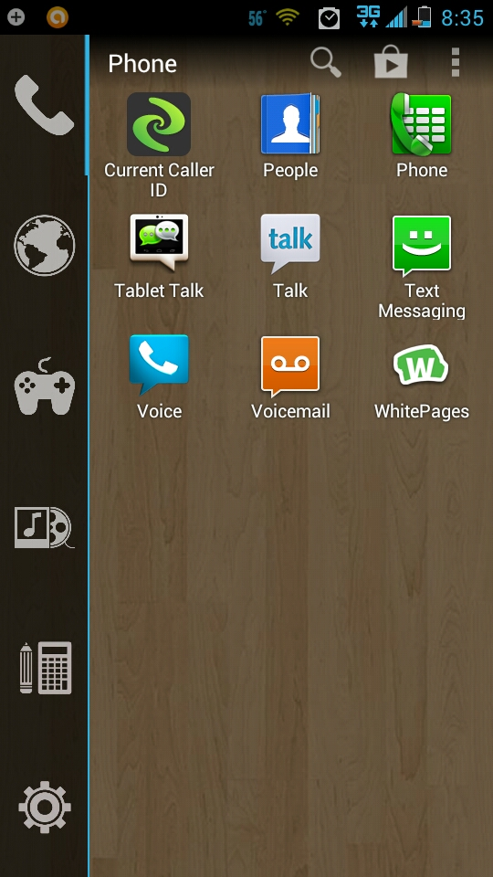 Sub Page of Android Launcher